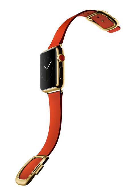 Apple Watch Oro giallo cinturino rosso