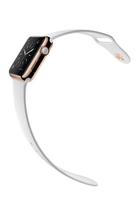 Apple Watch Oro Rosa cinturino bianco