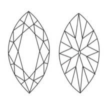 Taglio diamante navette