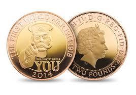 Monete oro commemorative prima guerra mondiale