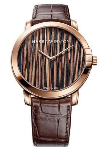 Orologio di lusso Harry Winston creato con arte Plumasserie