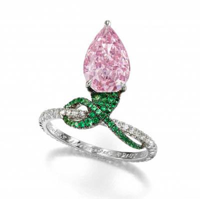 Rosa Ring anello sothebys